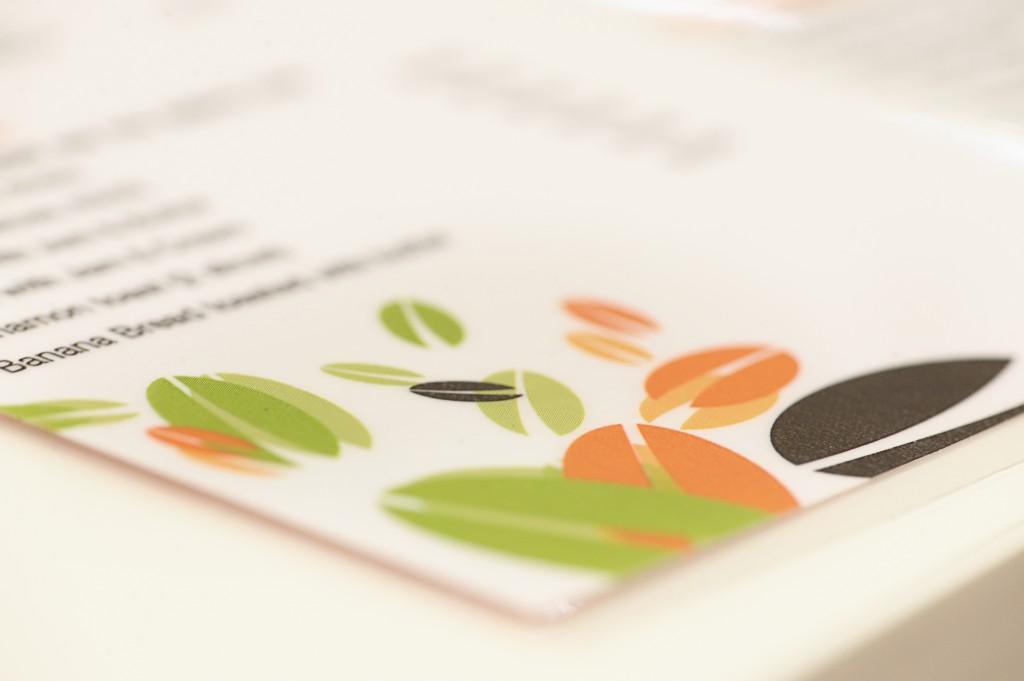 Menu design for cafe