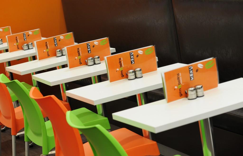 Graphic design for menus for cafe