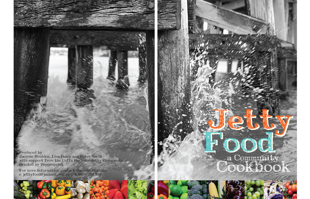 Cookbook design for Coffs Harbour Jetty cookbook