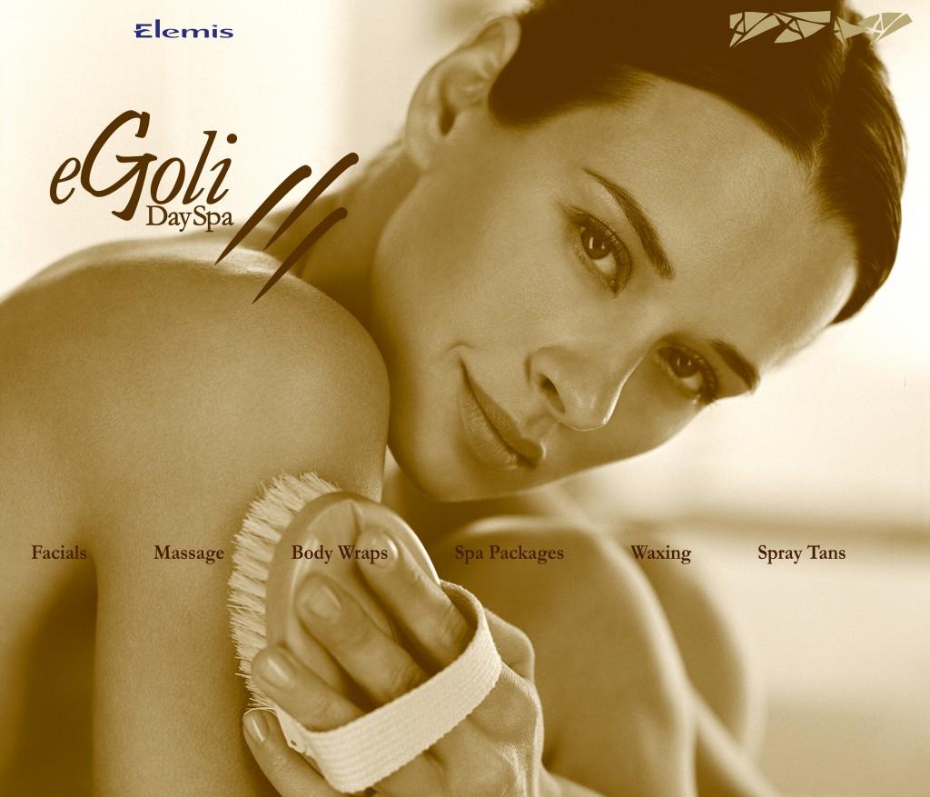 eGoli Day Spa Girl & Brush window design