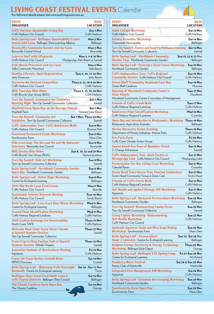 LivingCoast_Events-Brochure