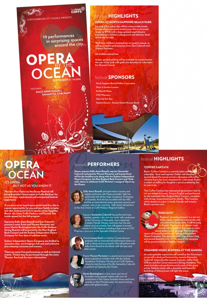 Opera by the ocean brochure of events