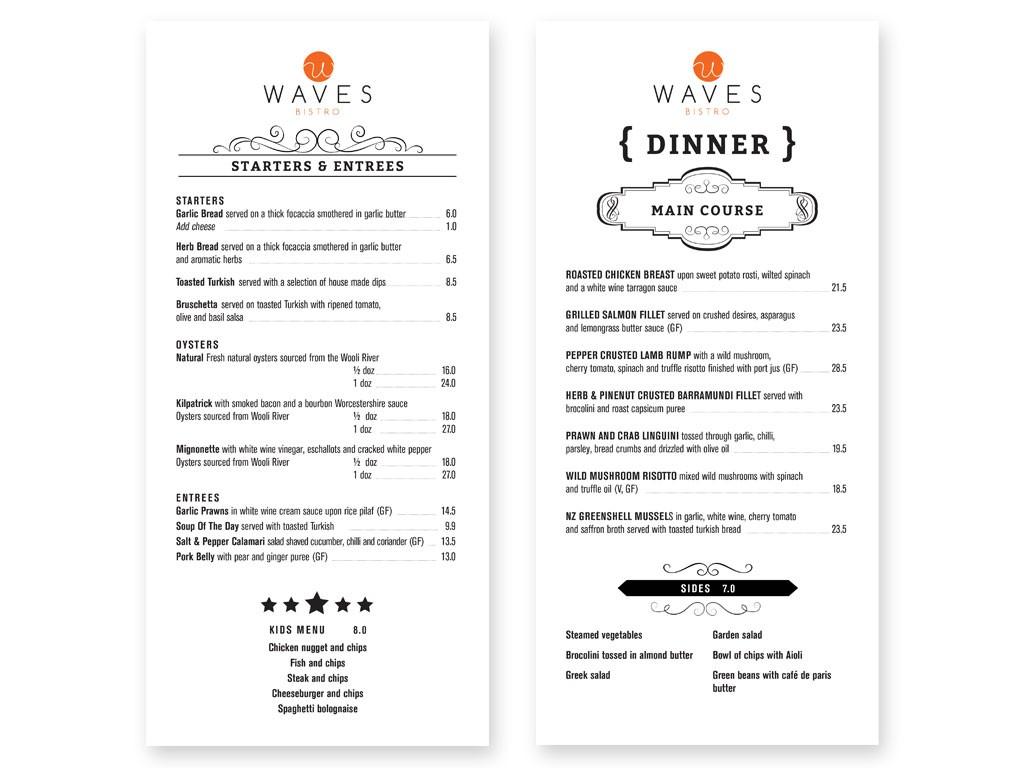 WavesBistro_Starters&Dinner