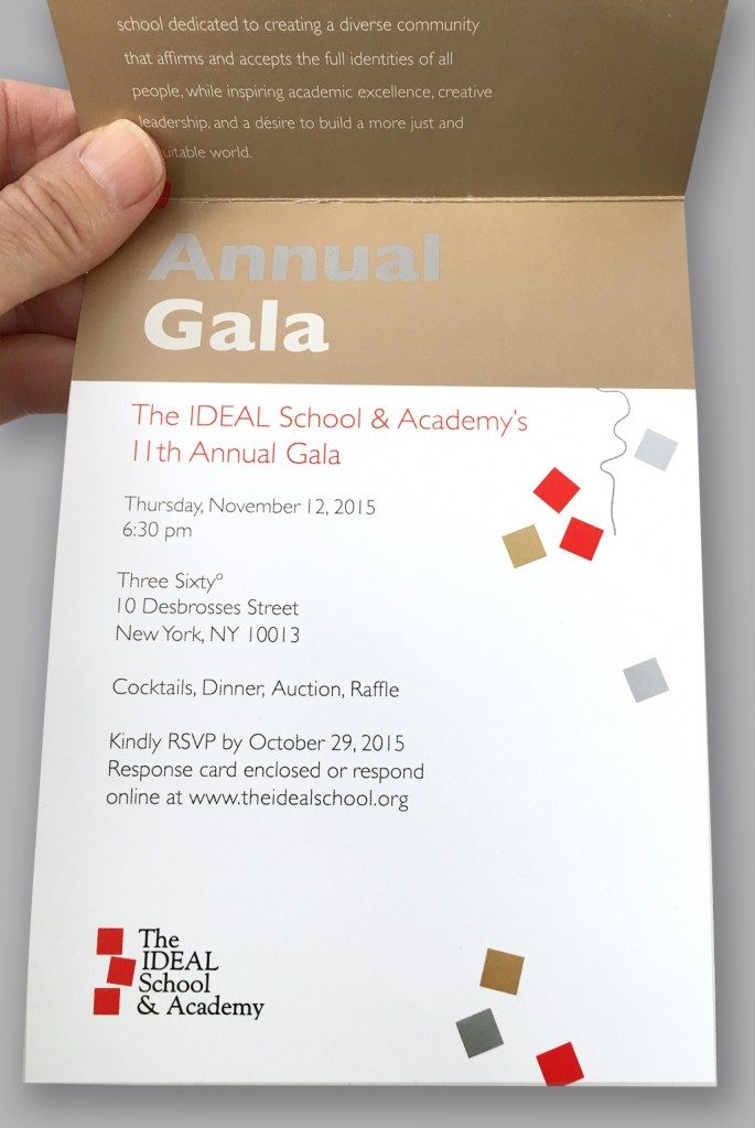 IDEAL School Gala Invitation Open