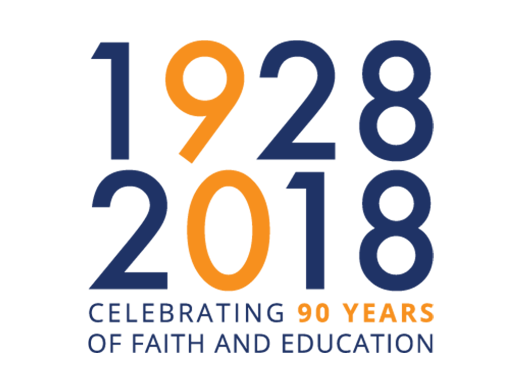 Saint Dominics 90th anniversary year logo and branding