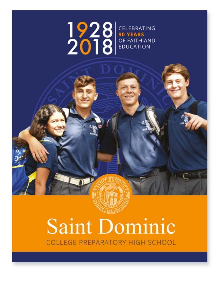St. Dominic High School branding and marketing materials