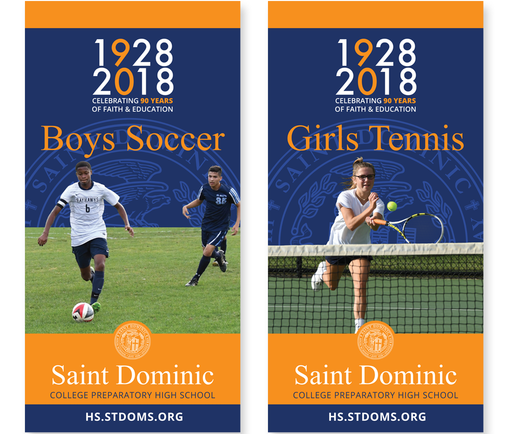 St. Dominic High School branding and marketing materials - posters