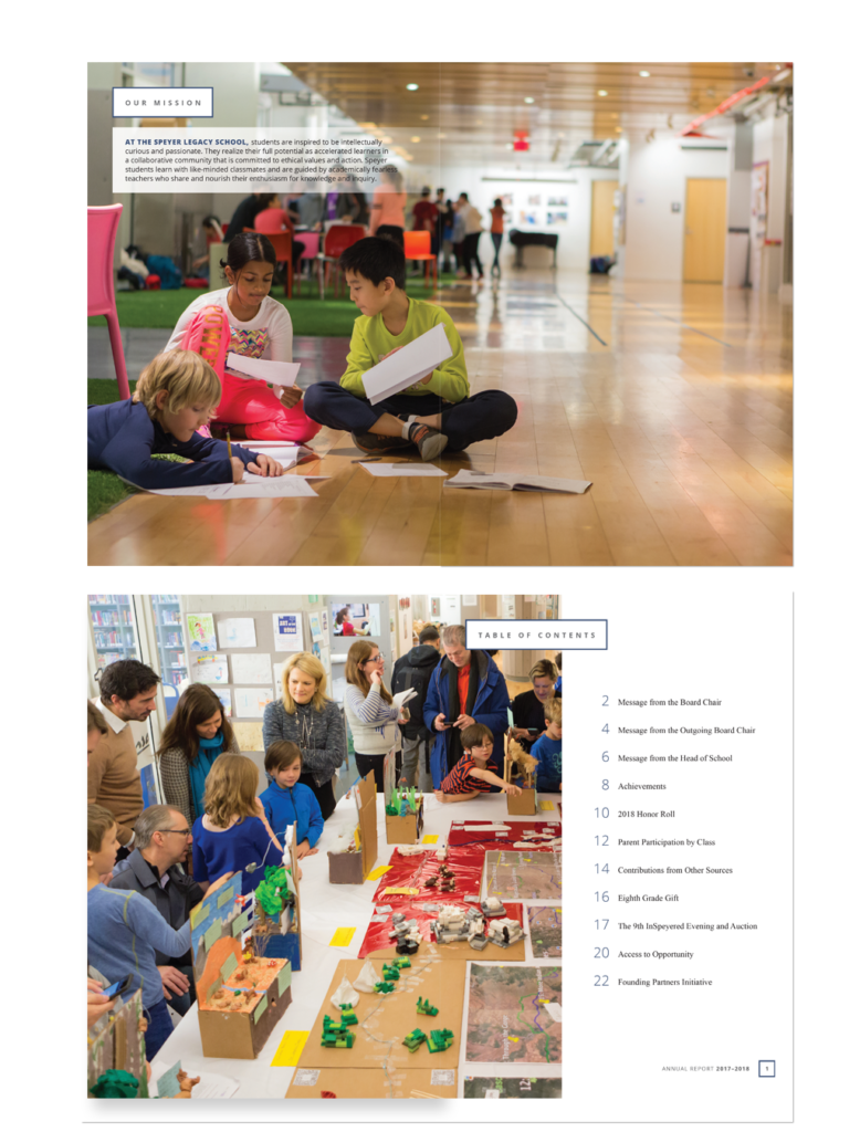 Speyer School NYC marketing materials - Annual Report